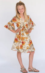 Yo Baby Floral Wrap Around Bell Sleeves Dress