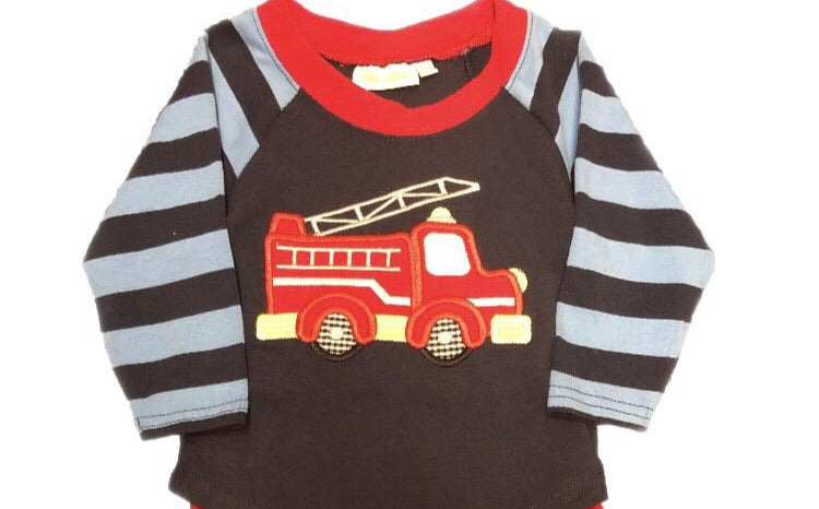 Be Mine Fire Truck Long Sleeve Shirt