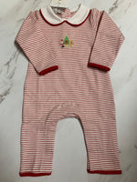 Magnolia Baby Cookies for Santa Embroidered Playsuit