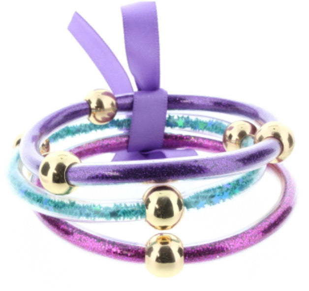 Jane Marie - Teal , Purple & Pink Jelly Bracelets