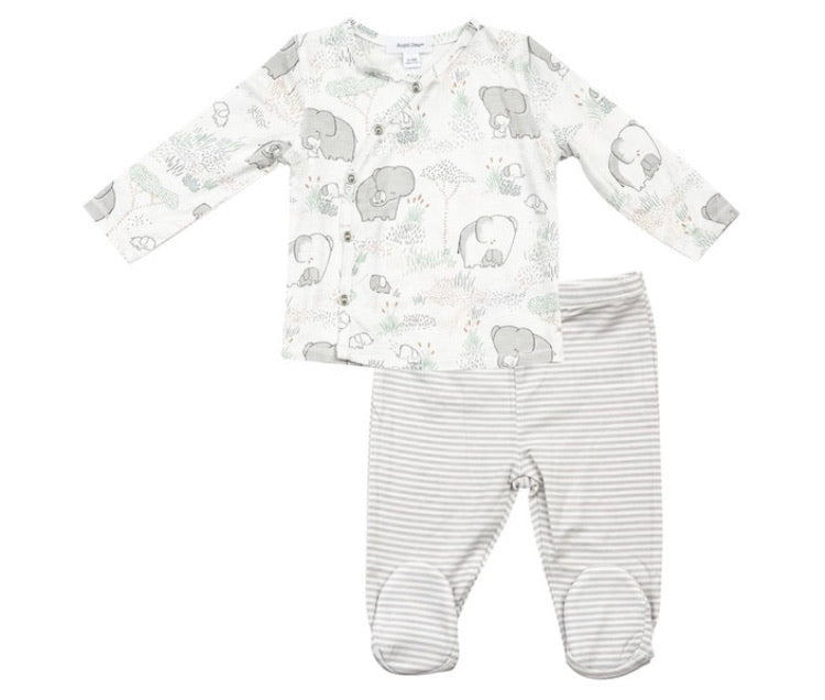 Angel Dear Take Me Home Set in Grey Elephant Family