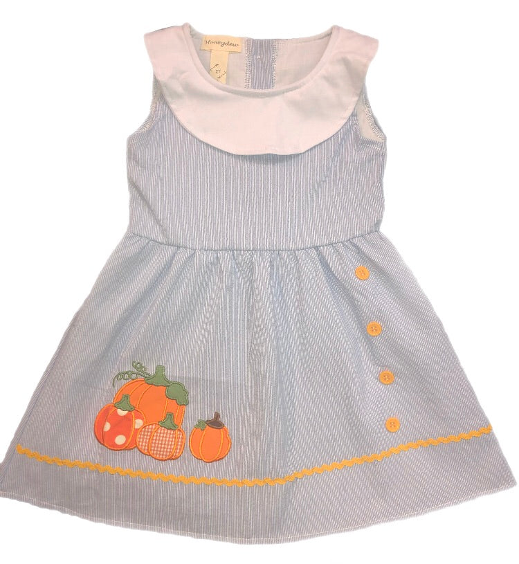 Honeydew Sky Blue Striped Pumpkin Dress