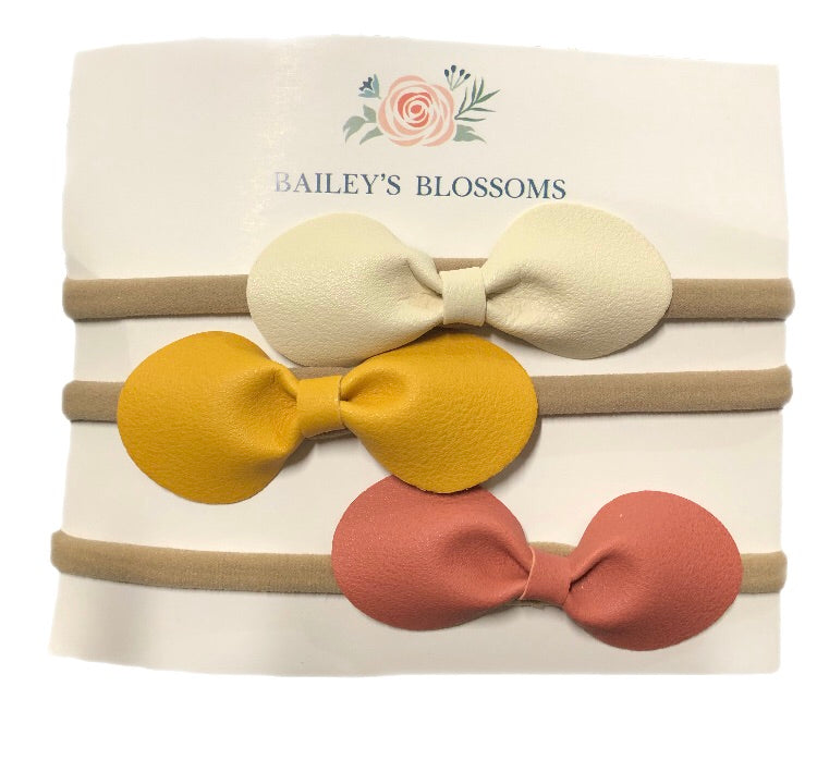 Leather Bow Headband Variety pack