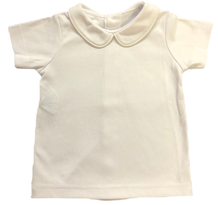 Rosalina White Collared Short Sleeve Shirt