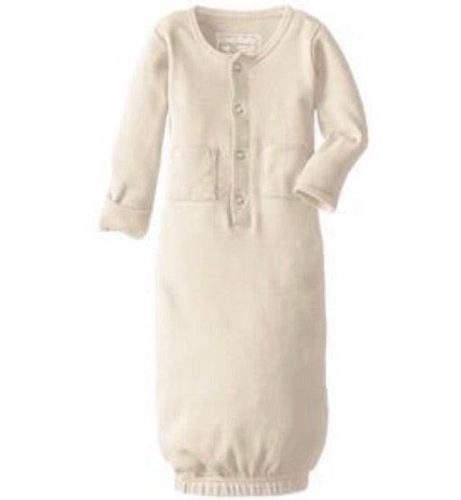 L'ovedbaby Beige Organic Gown