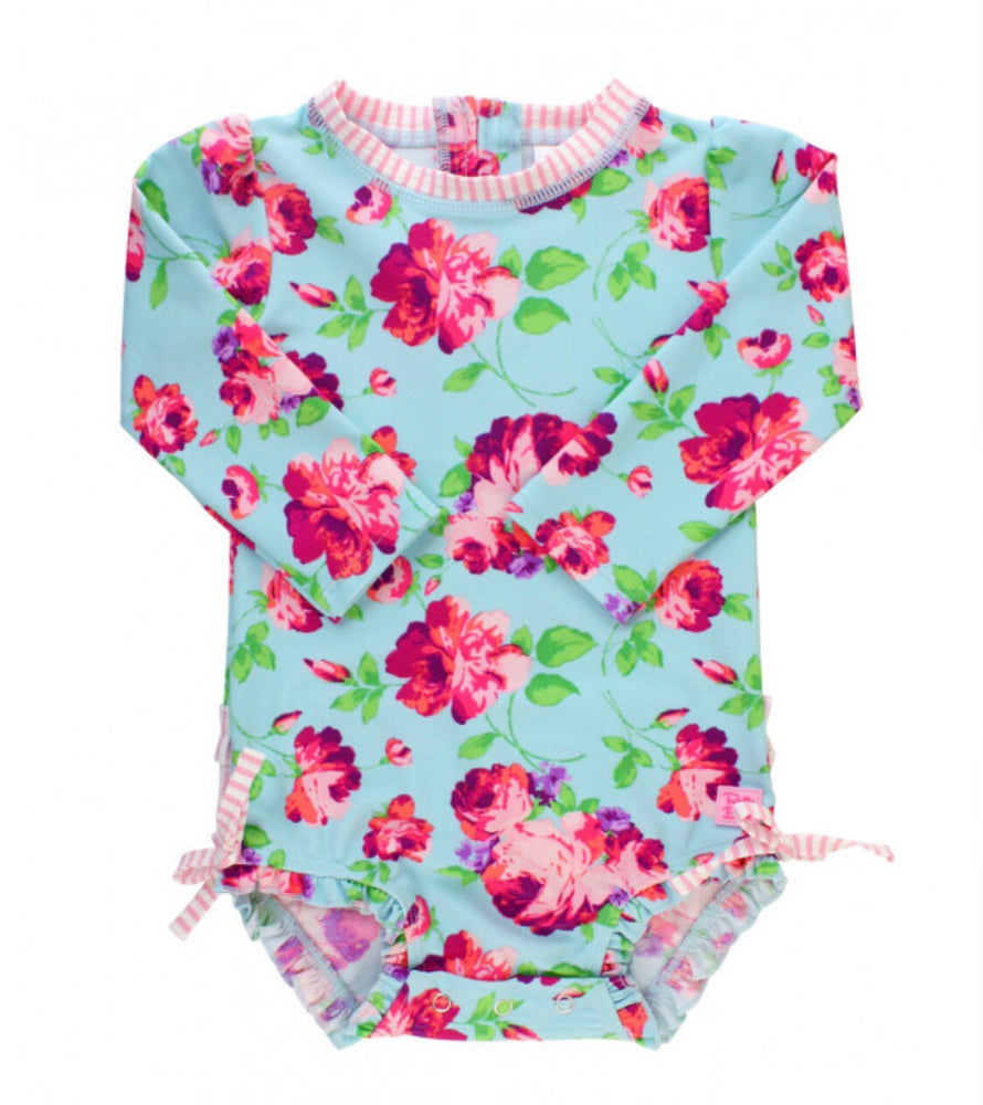 Ruffle Butts SPF 50 Floral Swimsuit