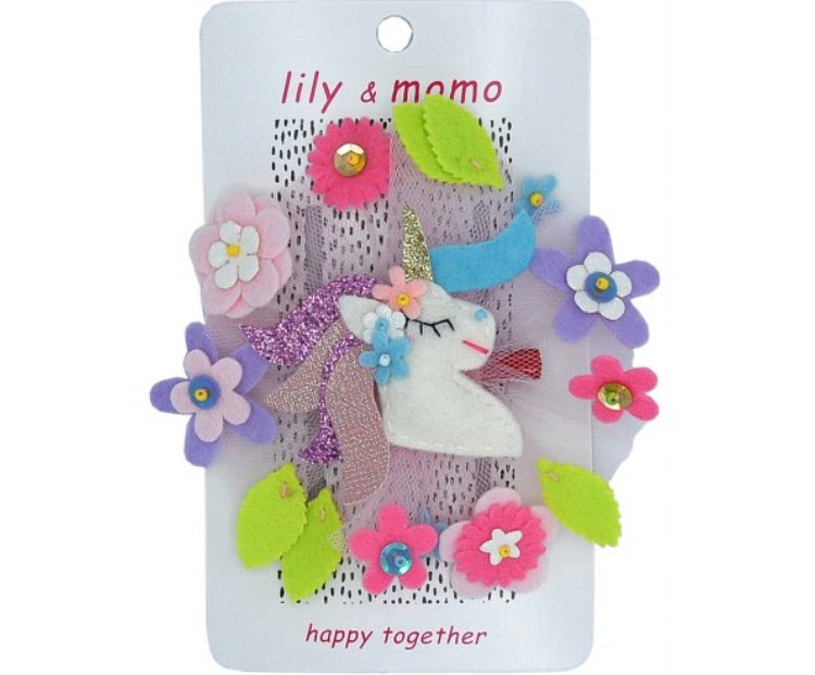Lily and Momo Forest Unicorn Hair Clip