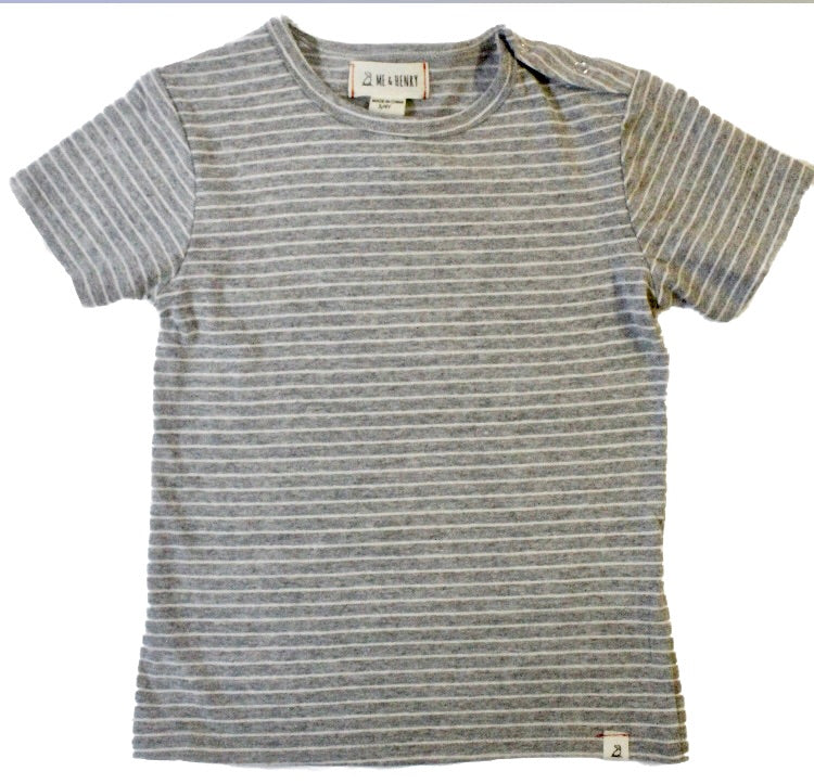 Me and Henry Grey Striped T-Shirt