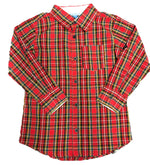 Rugged Butts Red/Green Plaid Button Up Shirt