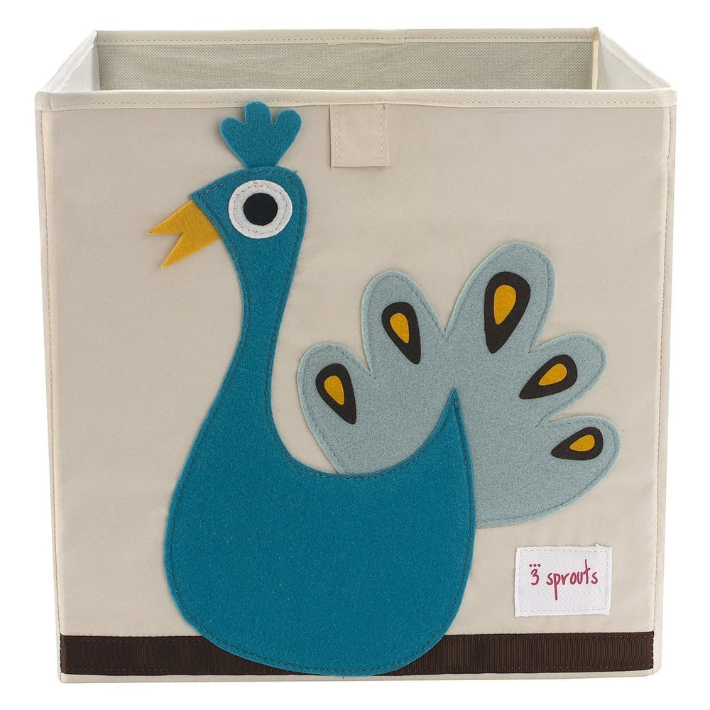 3 Sprouts Storage Box Blue - Peacock
