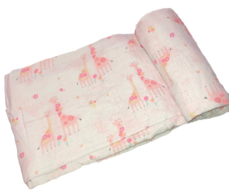 Angel Dear Bamboo Giraffe Swaddle Blanket