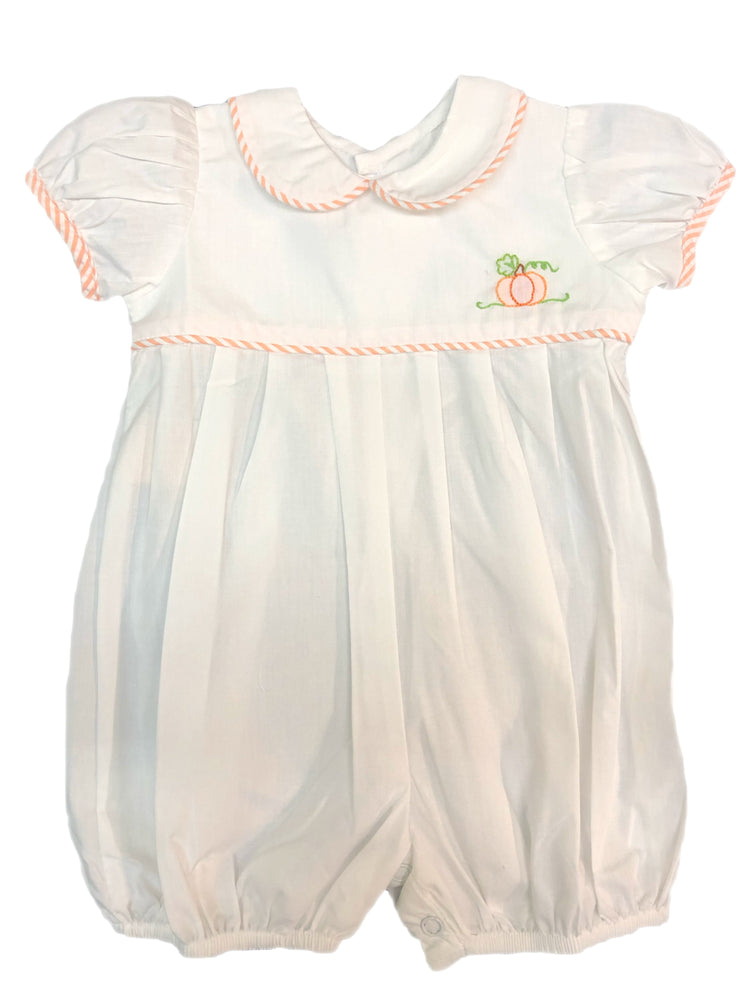 Remember Nguyen White Pumpkin Girl Romper