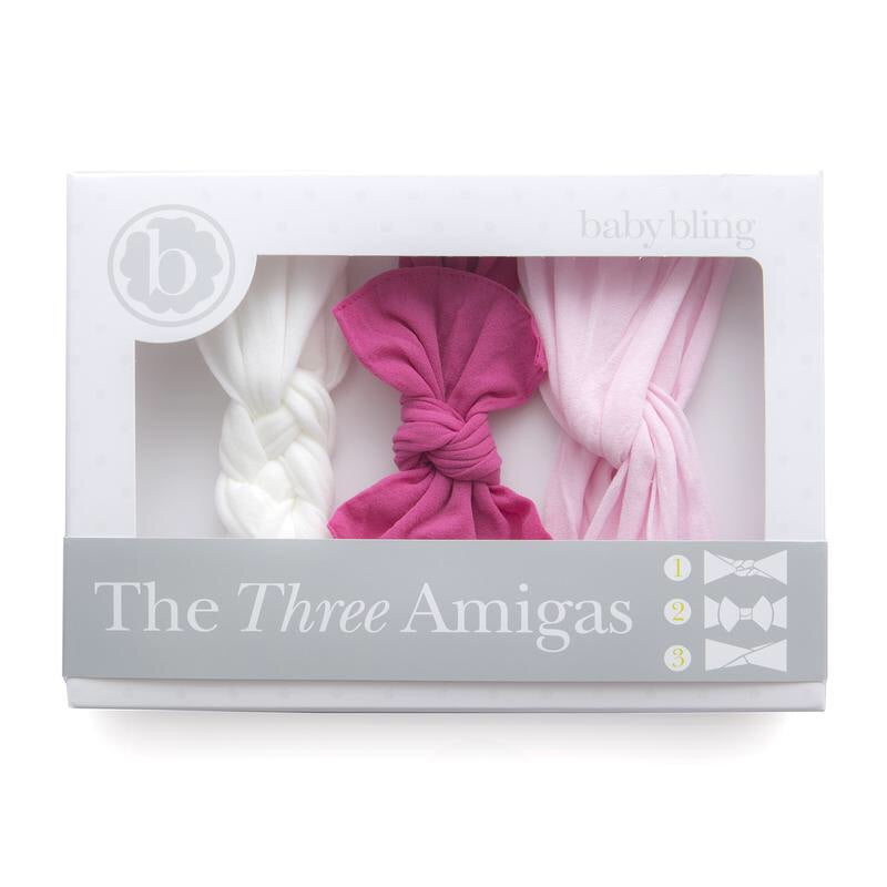 Baby Bling Three Amigas - Hot Pink, White, Pink