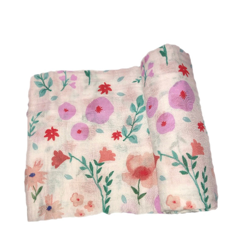 Little Unicorn Floral Muslin Swaddle