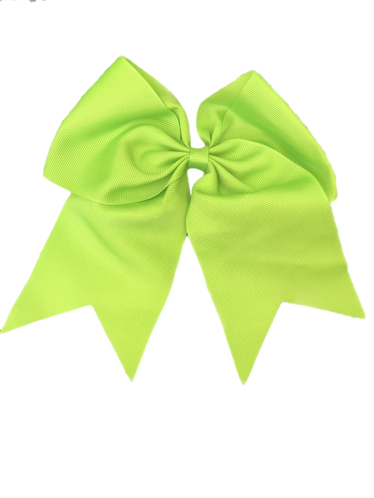Bows & Headbands Lime Green Cheer Ponytail Bow