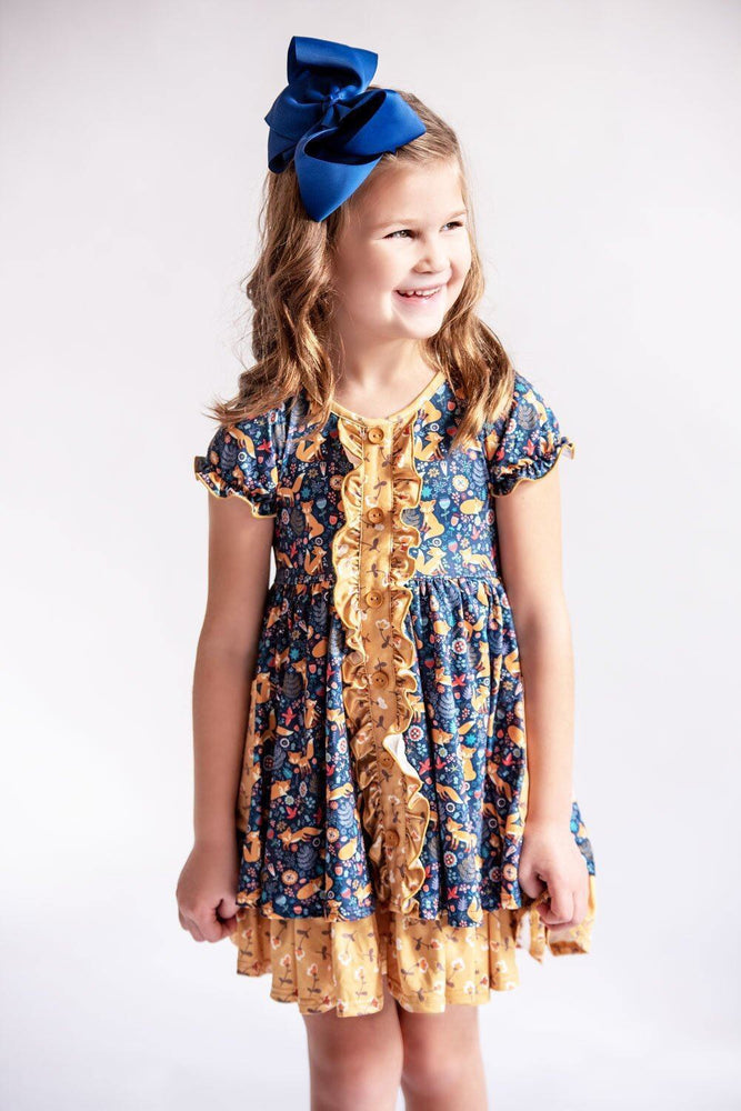 Charlie's Project Floral Fox Ruffle Hugs Collection Dress