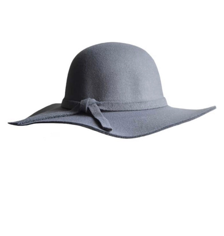 Audrey Floppy Hat - Grey