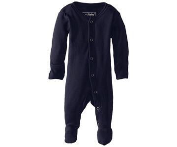 L'ovedbaby Navy Organic Footed Overall