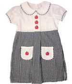 Honeydew Navy plaid Collared Apple Dress