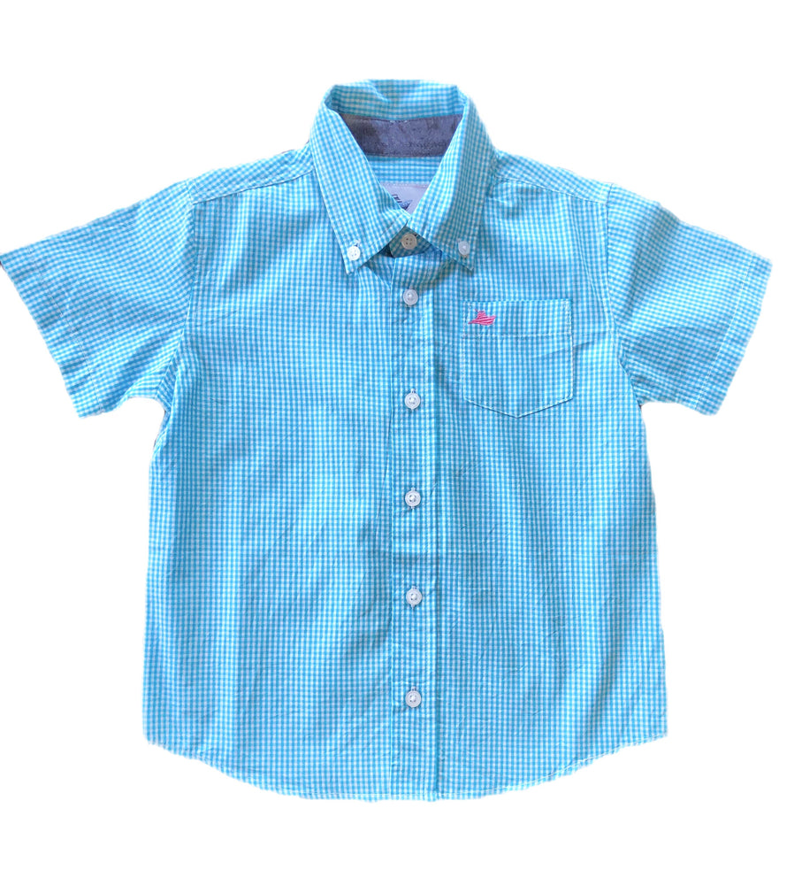 Southbound Ocean Blue Plaid Shirt