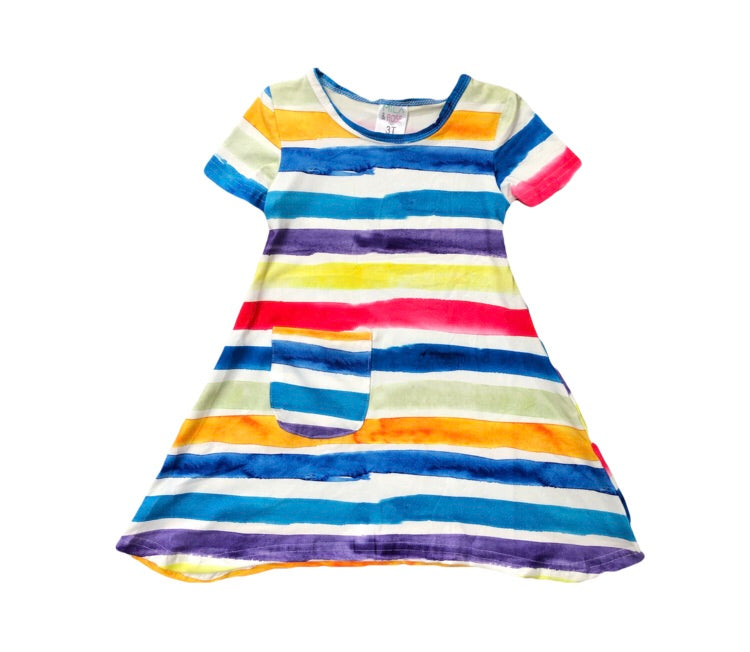 Mila and Rose Watercolor Stripe Simple Pocket Dress