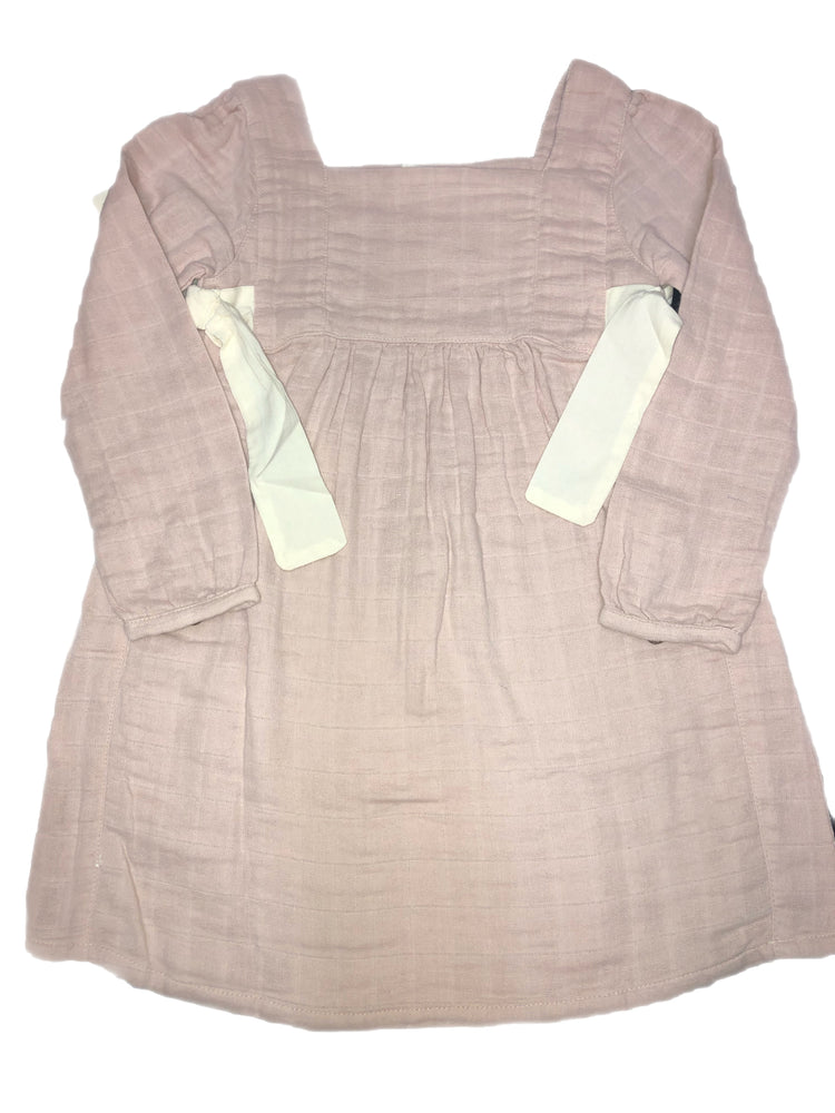 City Mouse Muslin Side Ties Dress - Mauve