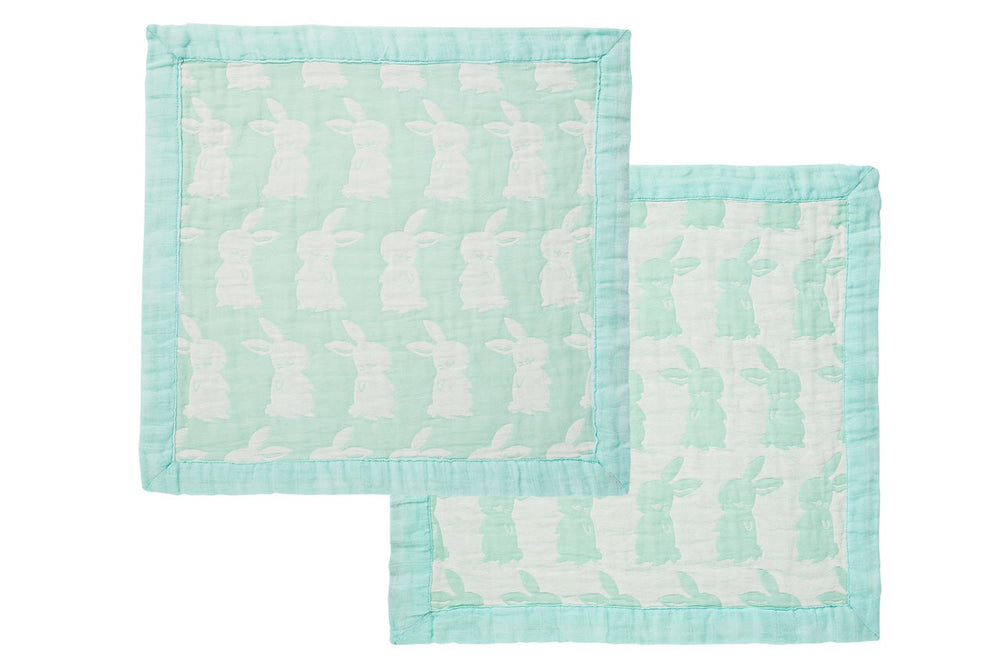 Angel Dear 100% Cotton Mint Bunny Burp Cloth