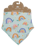 Angel Dear Rainbow Turtles Bandana Bib