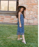 Bailey's Blossom Savanah Sun Dress - Leopard Royal Blue