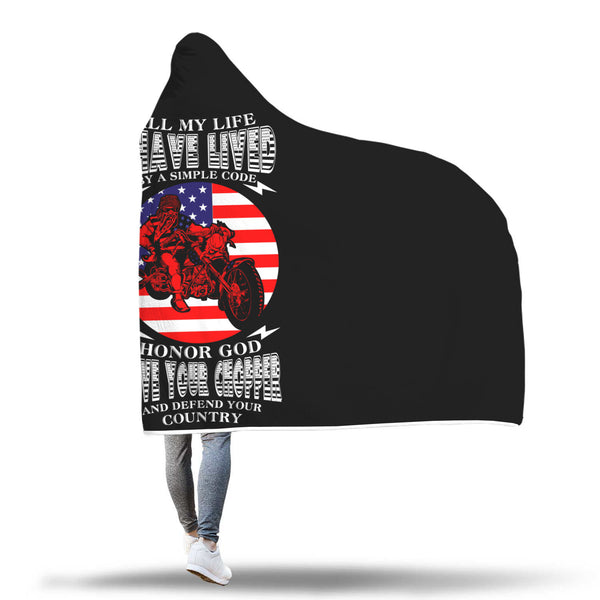 I have lived by a simple Code - Hooded blanket - fastandtune