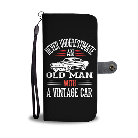 Never Underestimate an Old Guy - Wallet case - fastandtune