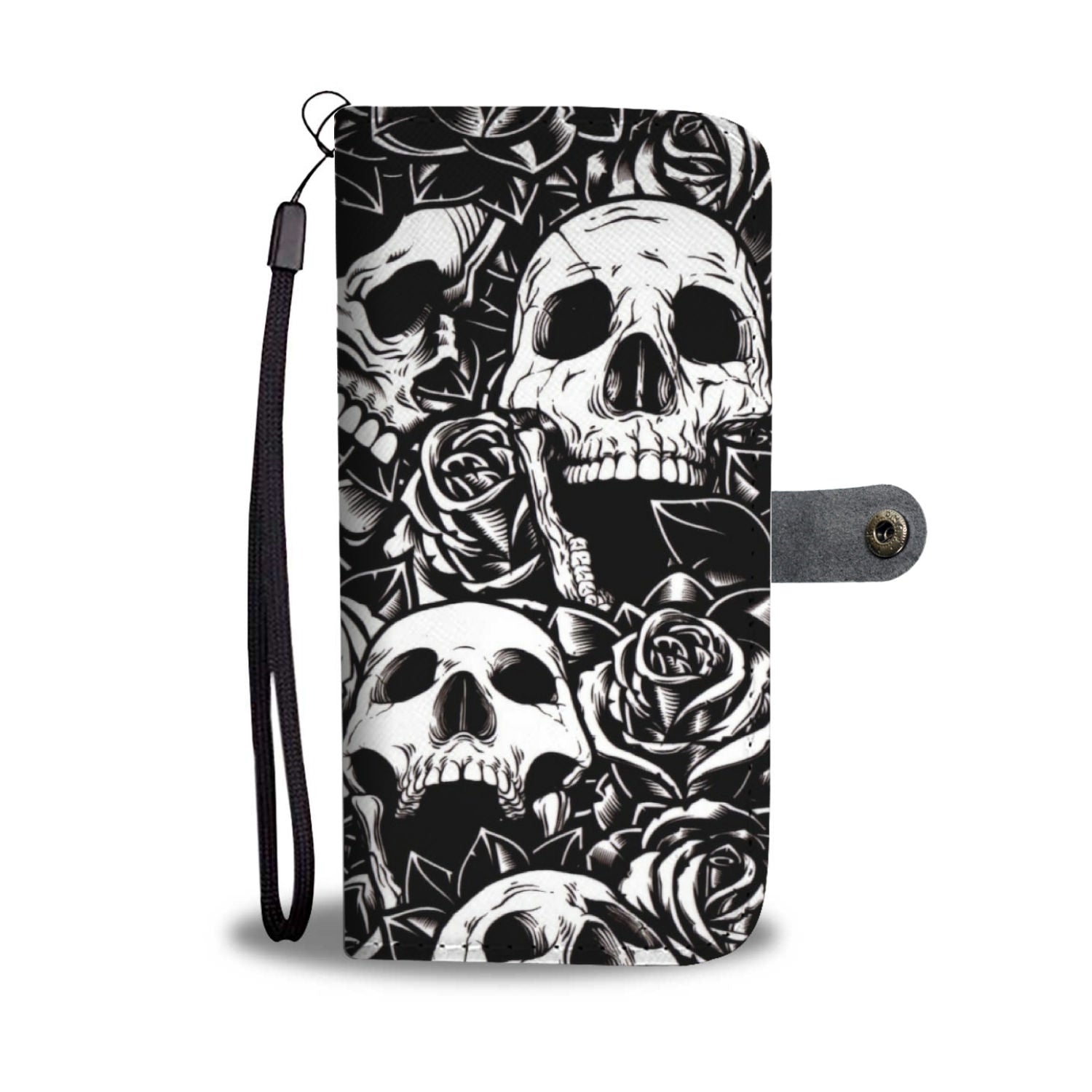 Roses and Skulls - Wallet case - fastandtune