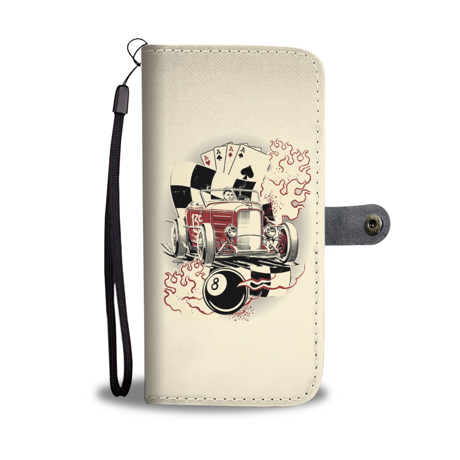 Hot Rod and Poker - Wallet case - fastandtune