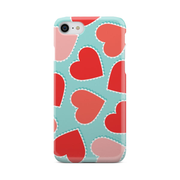 Orange Hearts - Phone case - fastandtune