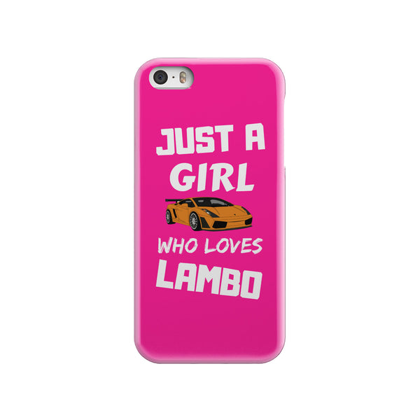 Just a Girl who loves Lambo - Pink Phone case - fastandtune
