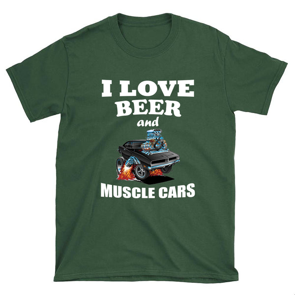 I Love Beer and Muscle Cars - T-Shirt - fastandtune
