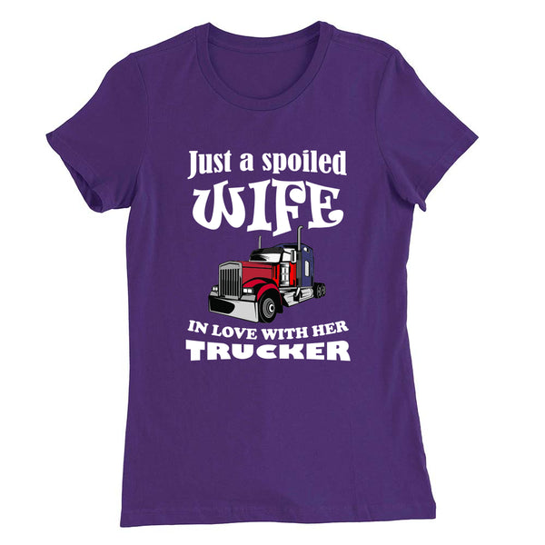 Just a Spoiled Wife - T-Shirt - fastandtune