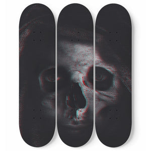 Death is Watching - 3 Deck Skateboard Wall Art - fastandtune