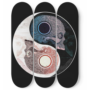 Yin & Yang - 3 Deck Skateboard Wall Art