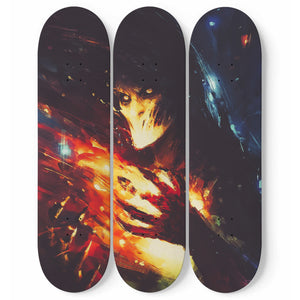Lightning Ball - 3 Deck Skateboard Wall Art - fastandtune