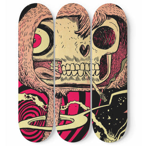E.T. - 3 Deck Skateboard Wall Art - fastandtune