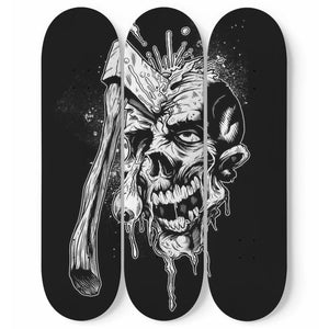 Head Shoot - 3 Deck Skateboard Wall Art - fastandtune