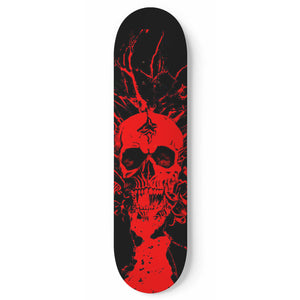 Red Skull - Skateboard Wall Art - fastandtune