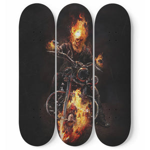 Ghost Rider - 3 Deck Skateboard Wall Art - fastandtune