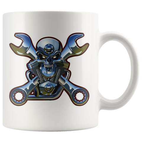Skull and Engine - Mug - fastandtune