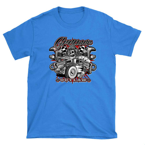 Greaser Hot Rod  - T-Shirt - fastandtune
