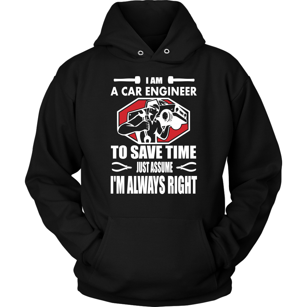 I am a Car Engineer - Hoodie - fastandtune