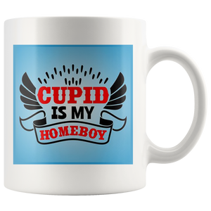 Cupid is my Homeboy - White Mug - fastandtune