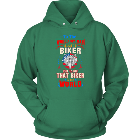 My man is just a Biker - Hoodie - fastandtune