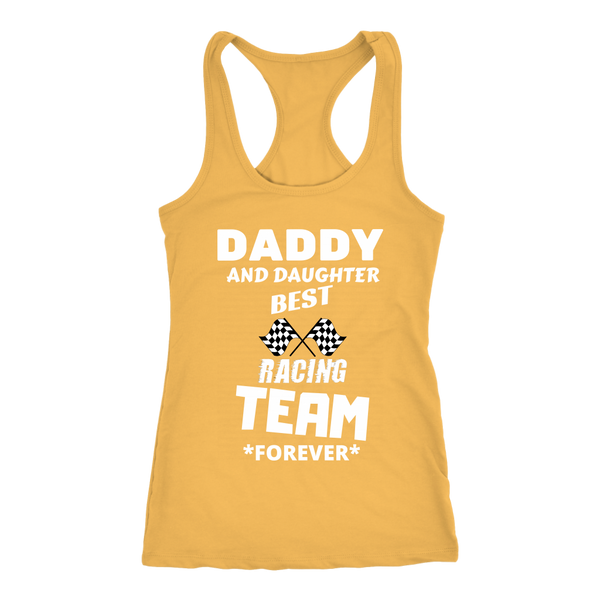 Daddy and Daughter best Racing Team - Tank top - fastandtune